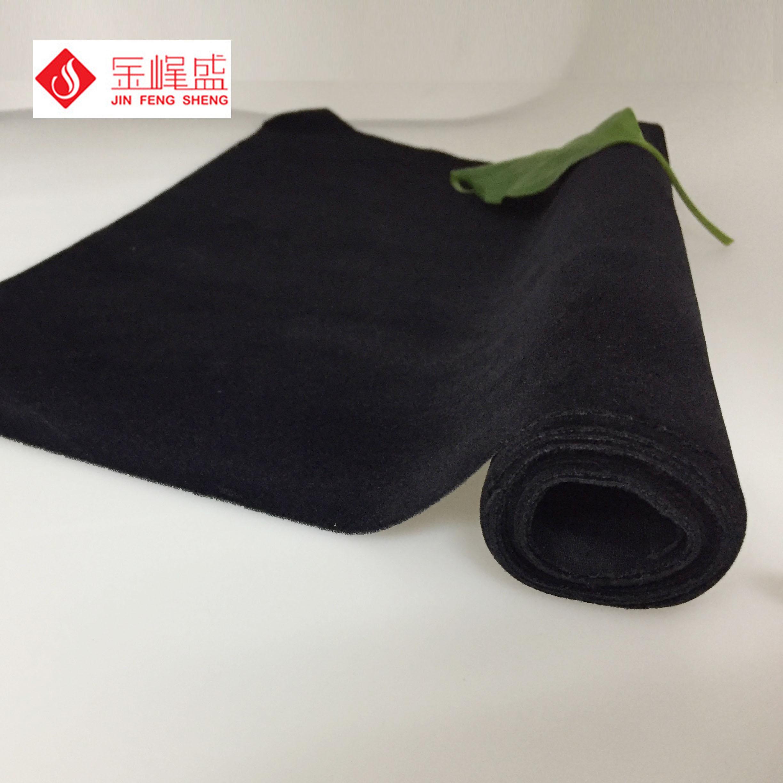 黑色针织底短毛绒   B3-N02  手袋、包装袋绒布,尼龙毛植绒布
