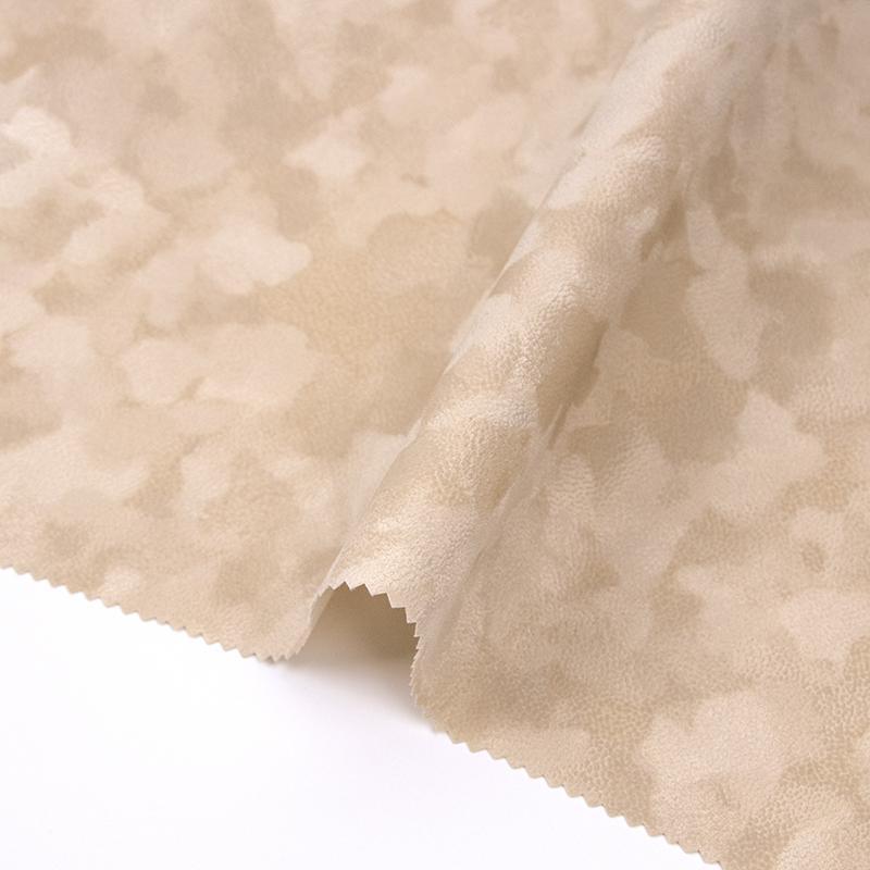 米黄色水刺珠粒植绒布(F04.P1.0973)